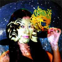 As Máscaras da Vida - Modelo: Andrea - Arte Digital: Henrique Vieira Filho